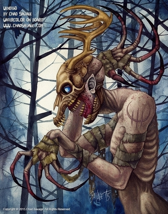 Wendigo - Watercolor board Chad - chadsavage-9708 | ello
