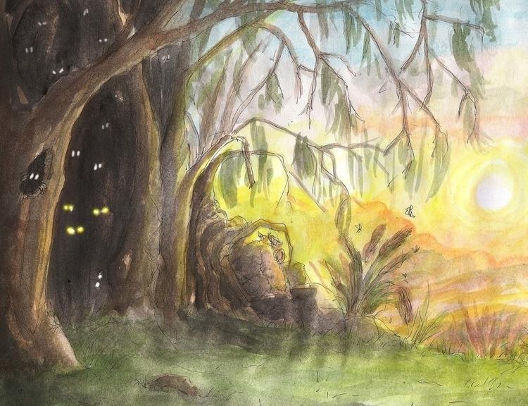 illustration, painting, drawing - nahuelullua | ello