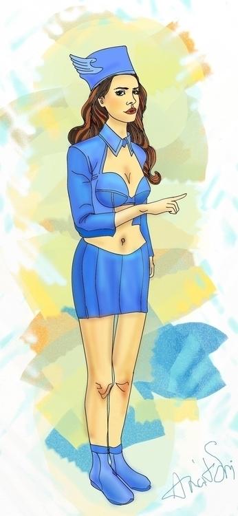 Lana Del Rey, image stewardess  - anaitsmi | ello