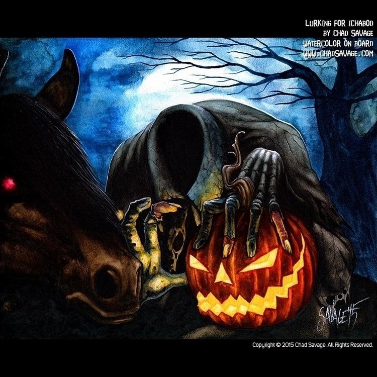 Lurking Ichabod - Watercolor Ch - chadsavage-9708 | ello