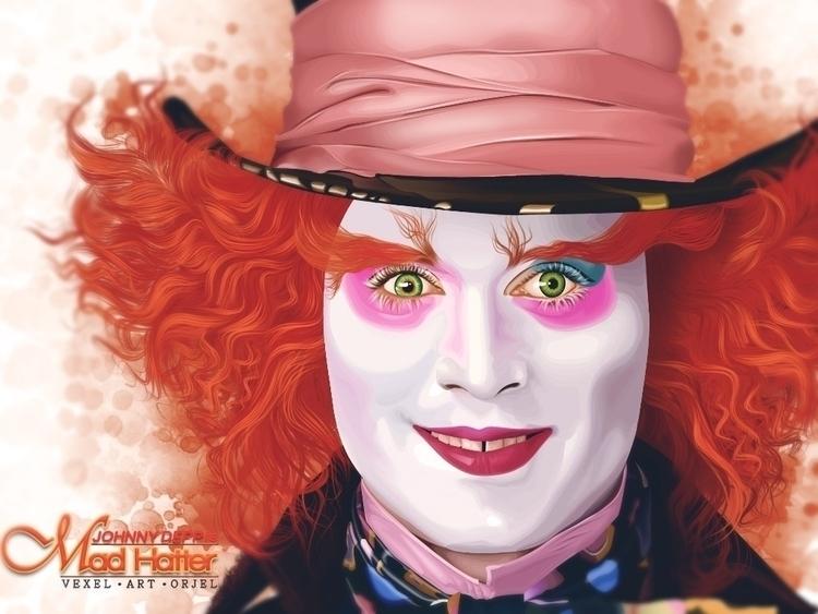 Madd Hatter Johnny Depp - illustration - orjel | ello