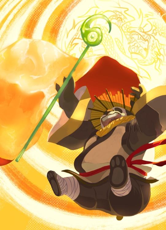 Po Kung Fu Panda - illustration - ykccha | ello