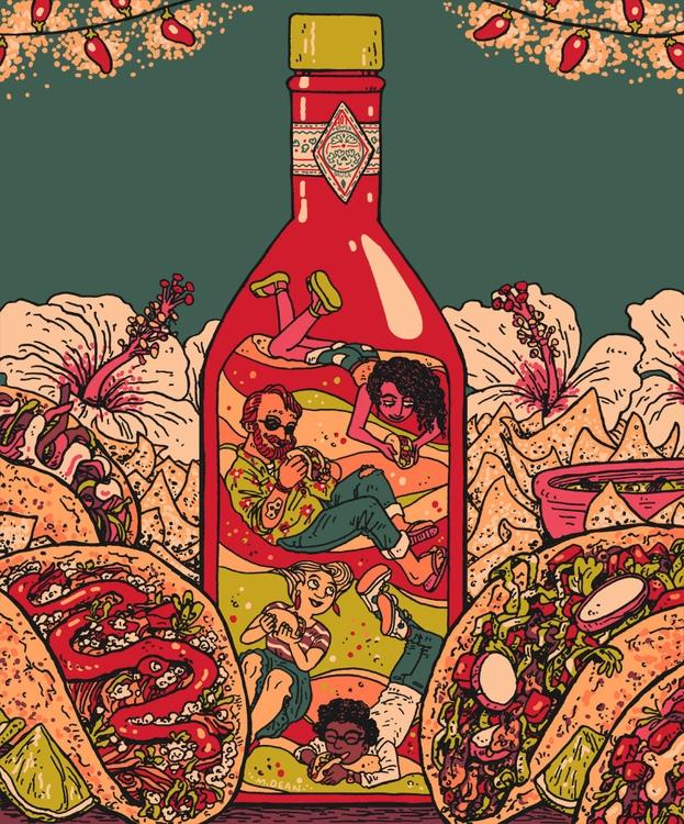 illustration local magazine tac - meedean | ello