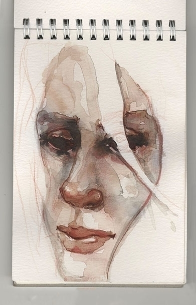 eyes brain - watercolor, girl, blind - amigdala | ello