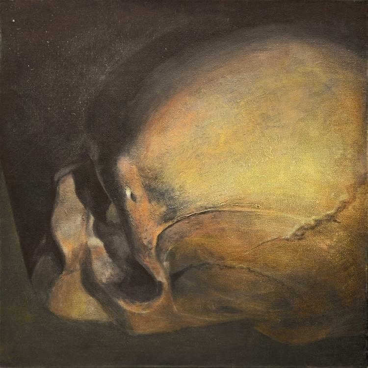 Skull'',60x60 cm,acrylic canvas - maryna-6139 | ello