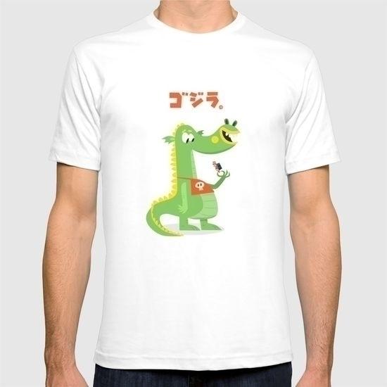 Godzilla! Crunchy chewy - illustration - sweatshopillustrations | ello