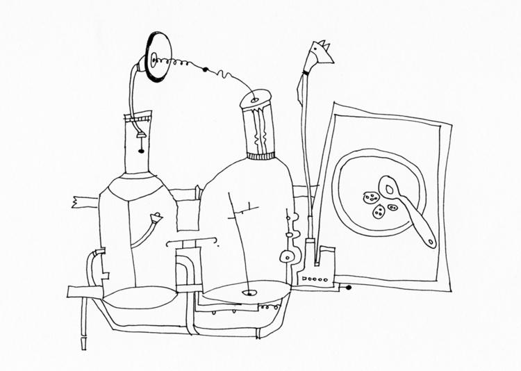 illustration, blackandwhite, kitchen - tychonikum | ello