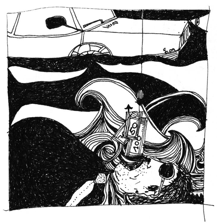 illustration, blackandwhite, weird - tychonikum | ello