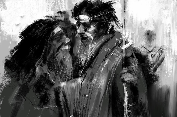 black white quick sketches - illustration - arifnbd | ello