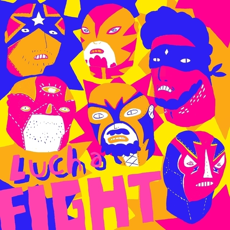 Lucha Fight - art, lucha, fighting - jaybarnham | ello