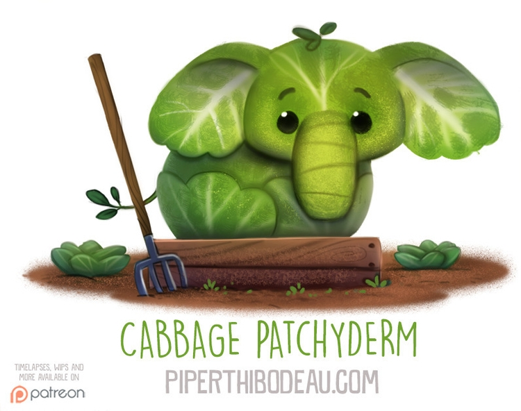 Daily Paint 1567. Cabbage Patch - piperthibodeau | ello