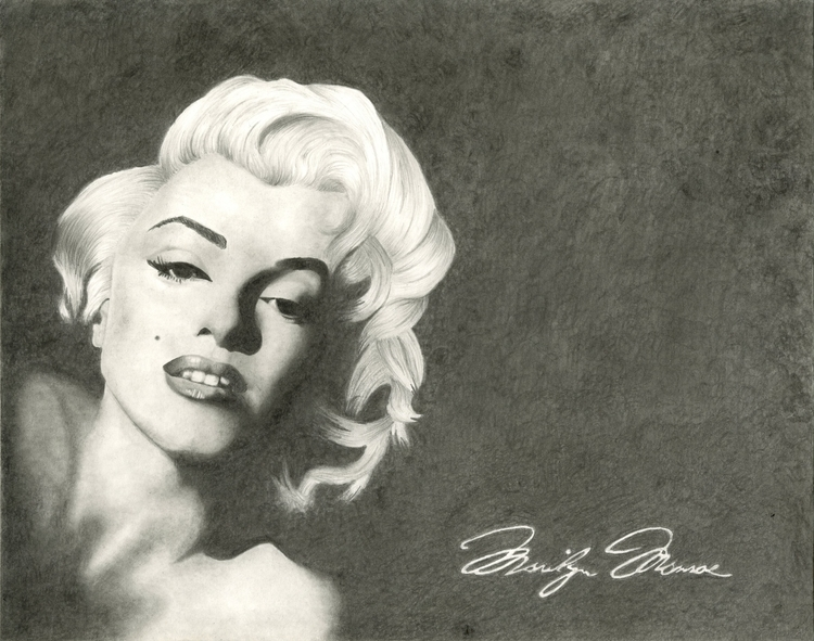 Marilyn Monroe Portrait - illustration - brittanyshively | ello