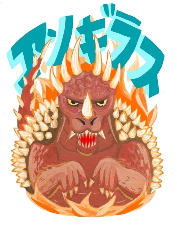 Anguirus - illustration, godzilla - devyn_park | ello