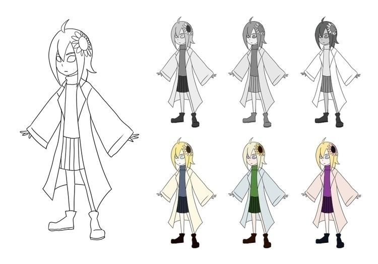 Sunny Values Colour Studies - characterdesign - daftdoggui | ello