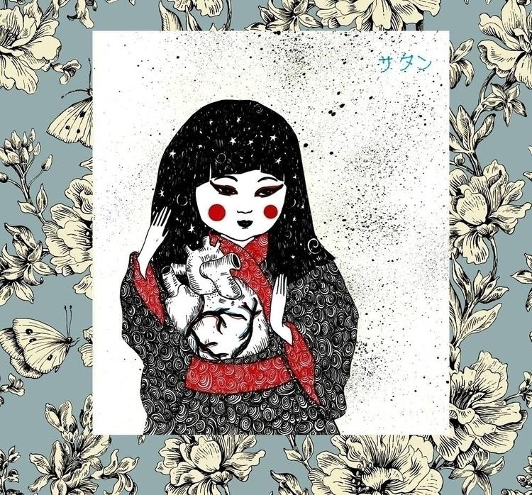 japanese, heart, sad, universe - venganza_de_samael | ello