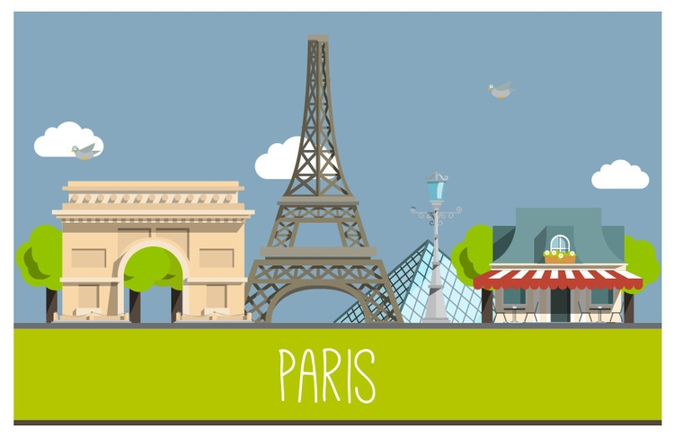 love Paris - #paris, illustration#digitalart#design#characterdesign#photoshop#painting#davisvrworks#drawing#conceptart - elgoran | ello