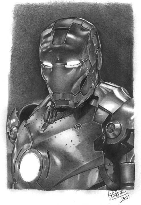 Pencil paper Drawing Iron Man - drawing - loukman | ello