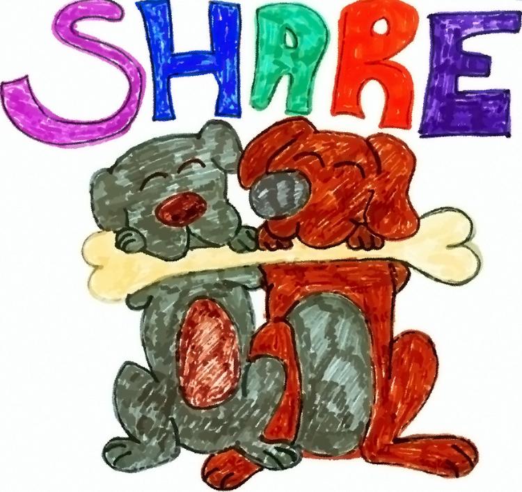 Sharing Caring - illustration, children'sillustration - jennziegirl | ello