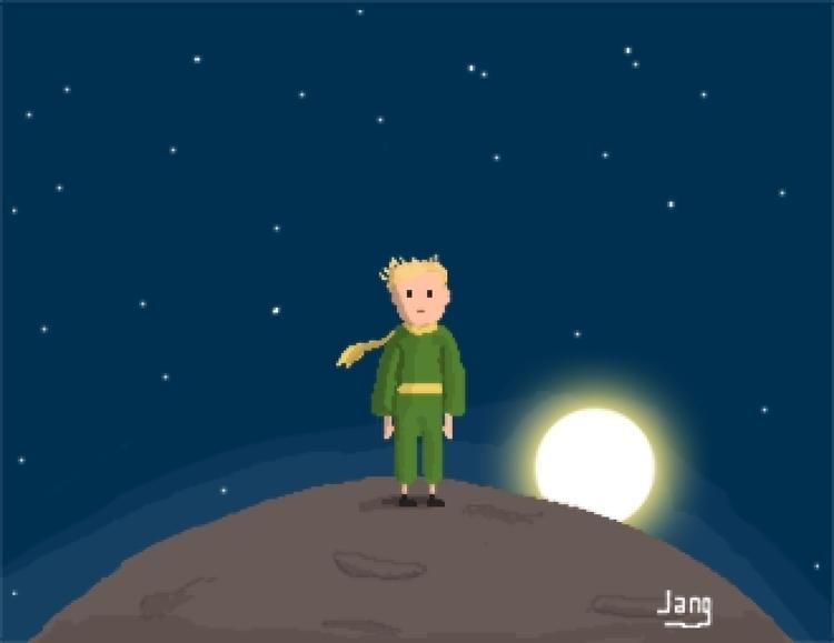 Prince - pixelart, littleprince - jang-4468 | ello