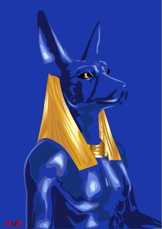 Anubis mighty - anubis, art, nvn - nvndesigns | ello