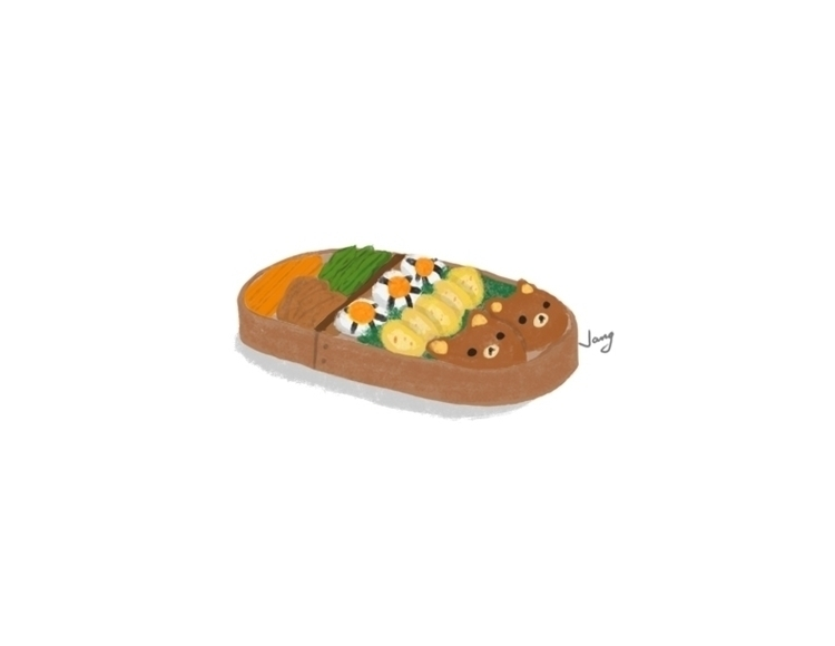 Bento - food, foodillustration, illustration - jang-4468 | ello
