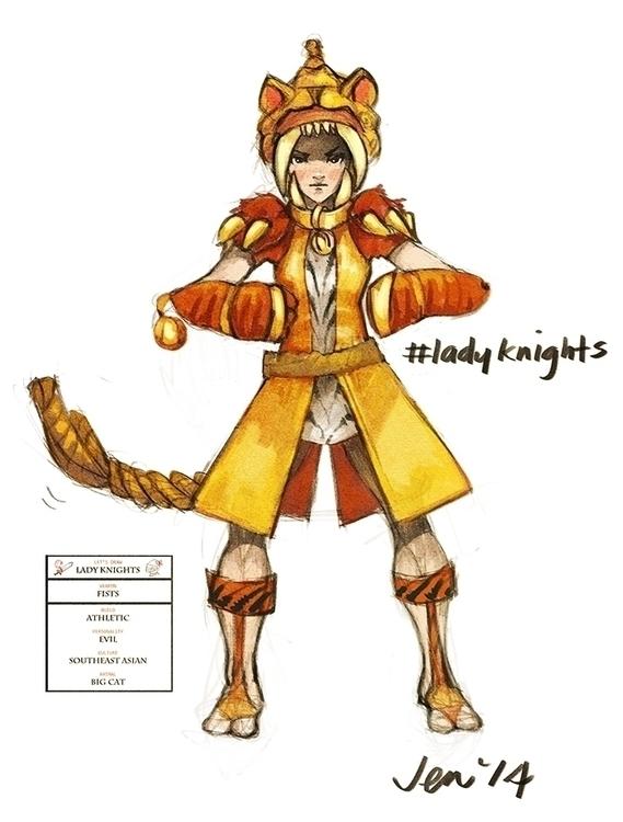 Lady knights sketch challenge 3 - estirdalin | ello