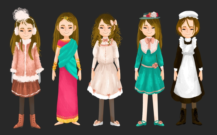visual development Sara clothin - ladyalouette | ello