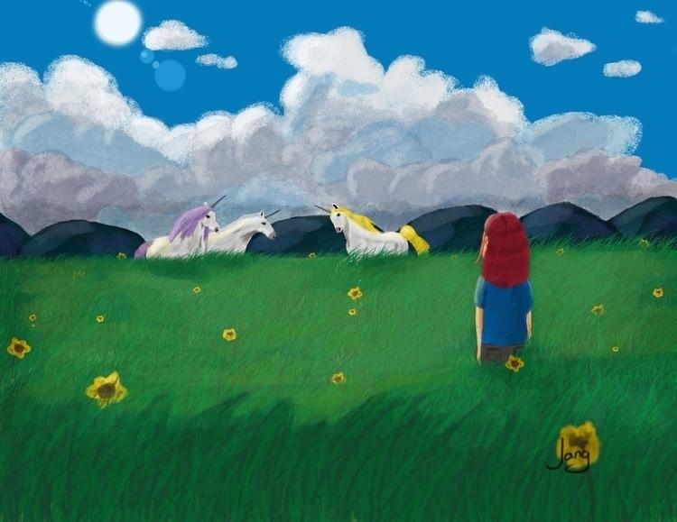 Unicorn Valley - illustration, digitalart - jang-4468 | ello