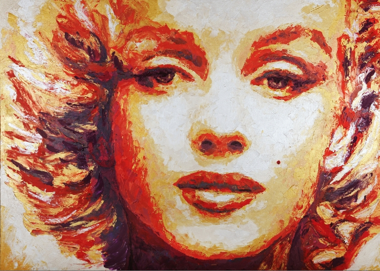 Marylin Monroe - Gold HaviArt - painting - haviart-7263 | ello