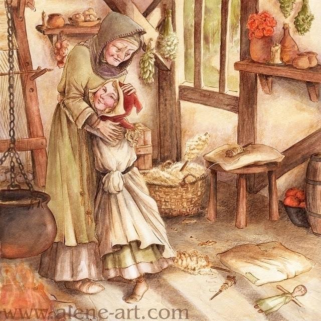 Red Riding Hood - fairytale, illustration - aleneart | ello