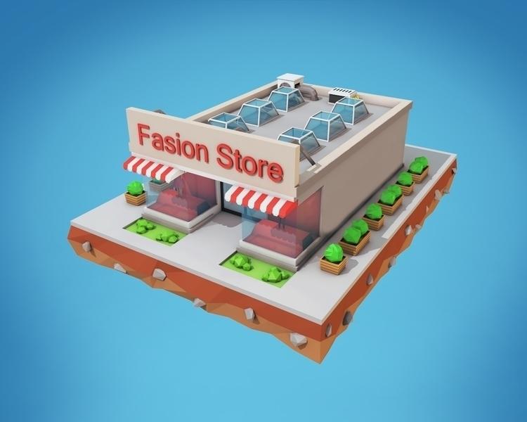 Poly Fashion Store - 3d, design - bigballsstudio | ello