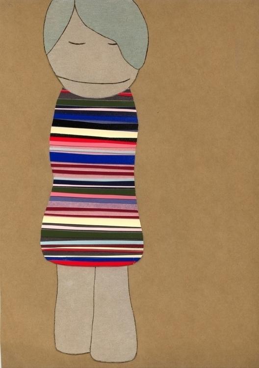collage, illustration, schoolgirl - robincottage | ello