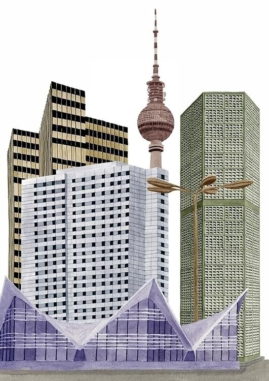collage, illustration, Berlin - robincottage | ello