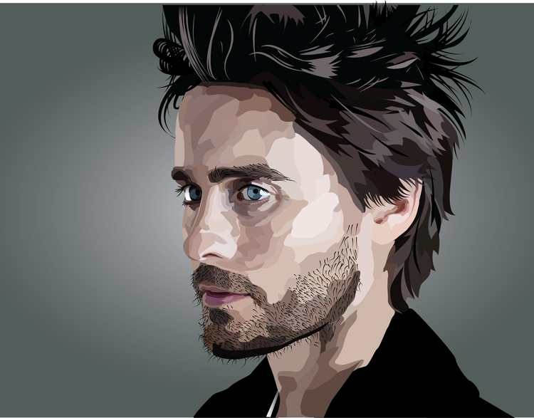Jared Leto - illustration, adobeillustrator - neydaochoa | ello