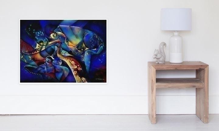 poster jazz - painting, digitalpainting - wolfgangschweizer | ello