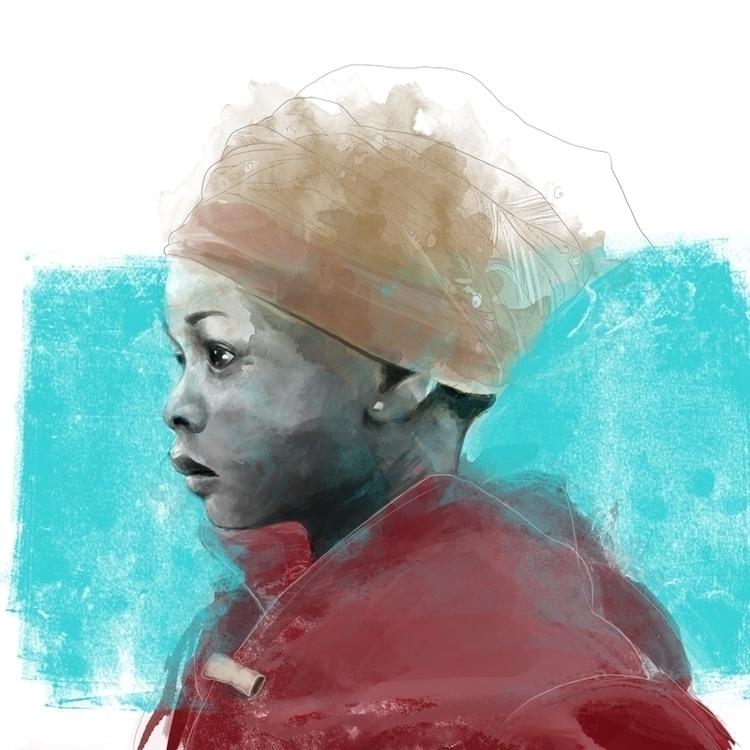 Nana - illustration, portrait, girl - csangal   ello