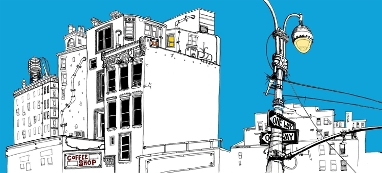 York - Tribeca - illustration, penink - richbutler-1014 | ello