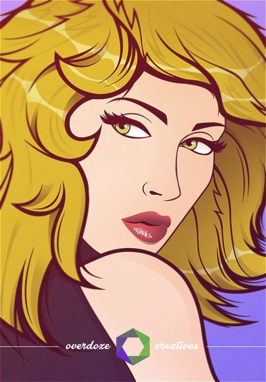 Digital Portrait - Gabrielle - graphicdesign - overdozecreatives   ello