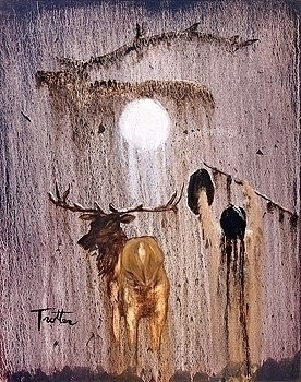 Elk Prayer , oil painting patri - ptrotter | ello