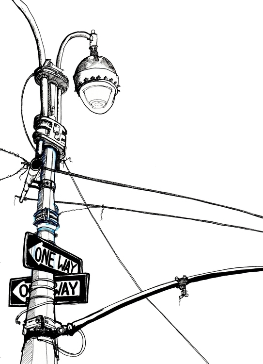 York - Street Lamp - illustration - richbutler-1014 | ello