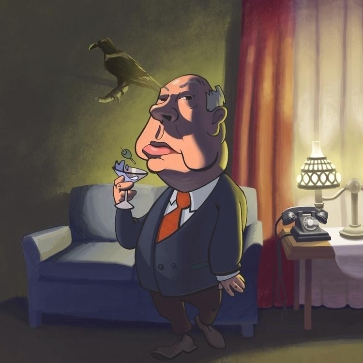 Alfred halloween toast Saloon - alfredhitchcock - vanillustration | ello