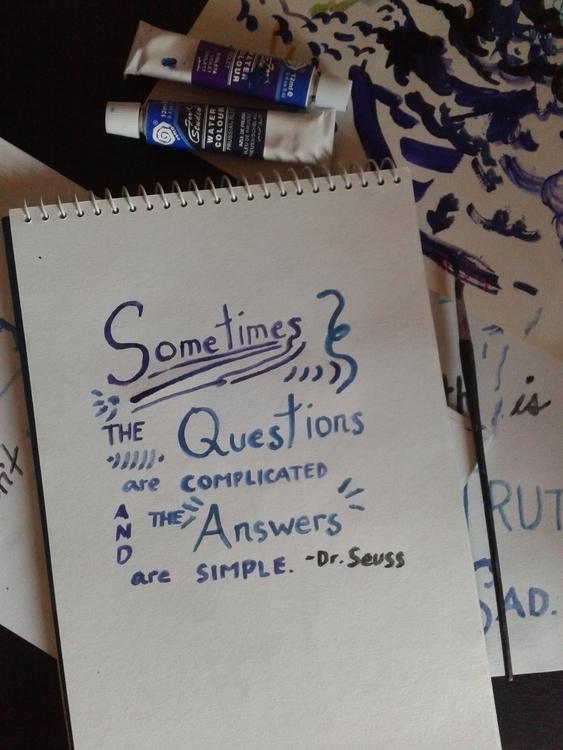Dr. Seuss - lettering, watercolor - jang-4468 | ello