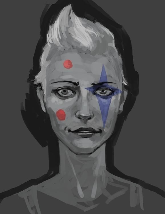 Tobin portrait - cool painting - ccampbellart   ello