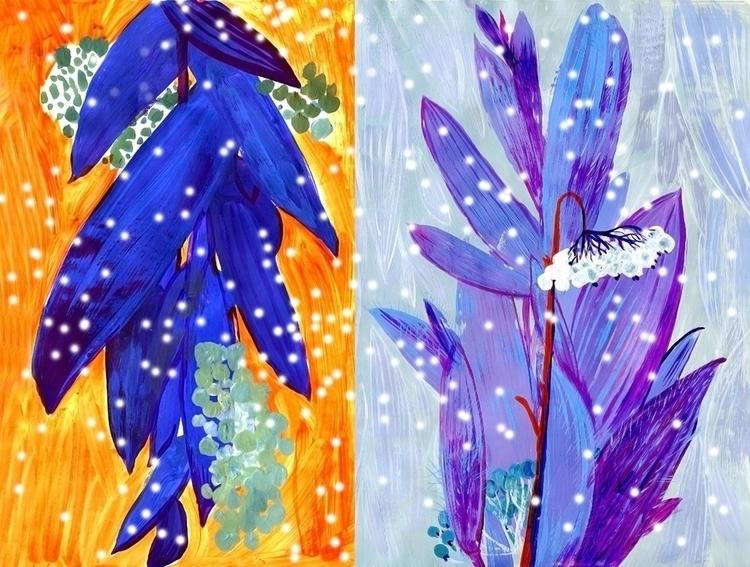 Blue plant - illustration, blue - gonsero | ello