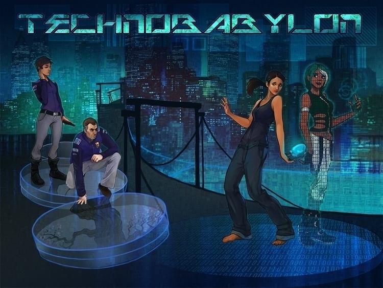 Technobabylon promo commission  - estirdalin | ello