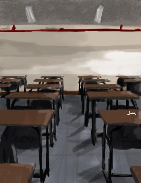 Classroom - classroom, school, digitalpainting - jang-4468 | ello