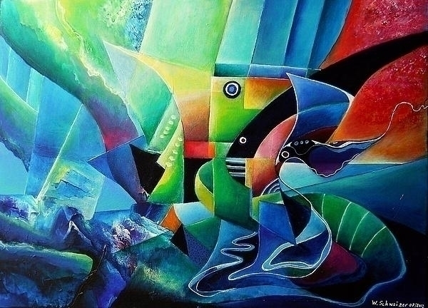 mindscape - sea - painting, acrylicpainting - wolfgangschweizer | ello