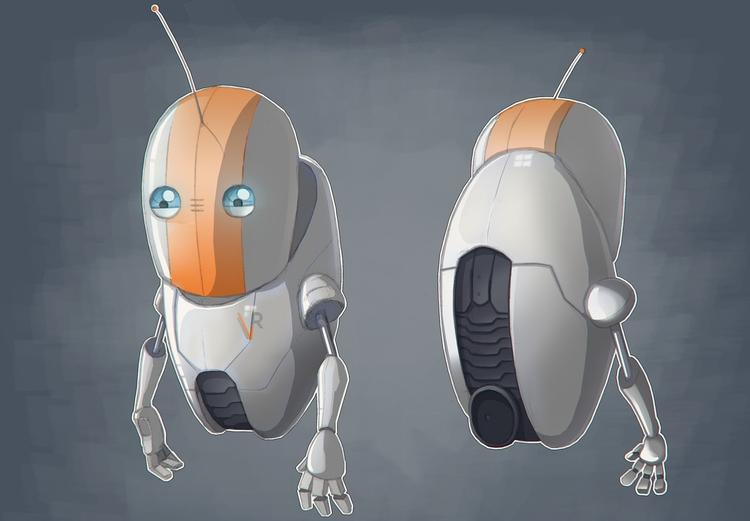 GBot MkII concept art - illustration - miruku3d   ello