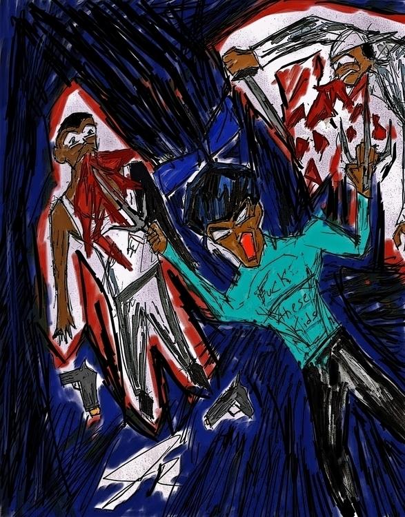 Rage - illustration, digitalart - janoryusaru | ello