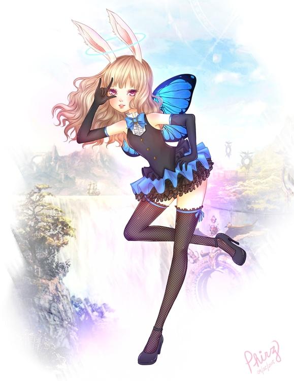 Tera Elin (Fan Art - Onlinegame - violeta-9074 | ello